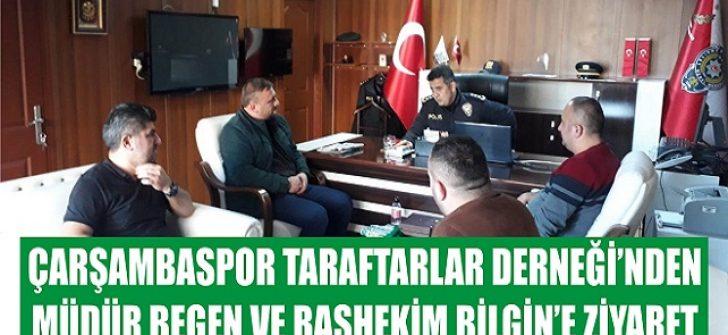 Çarşambaspor Taraftarlar Derneği'nden Müdür Begen ve Başhekim Bilgin'e Ziyaret