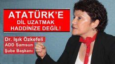 ATATÜRK'E DİL UZATMAK HADDİNİZE DEĞİL!
