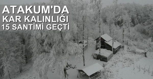 Atakum'da Kar Kalınlığı 15 Santimi Geçti