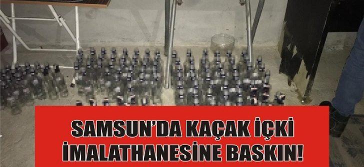 Samsun'da Kaçak İçki İmalathanesine Baskın!
