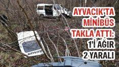 Ayvacık'ta Minibüs Takla Attı: 1'i Ağır 2 Yaralı