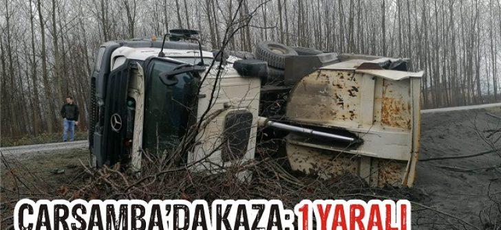 Çarşamba'da Kaza: 1 Yaralı