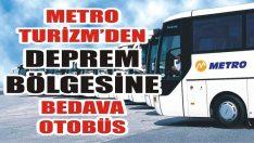 Metro Turizm'den Deprem Bölgesine Bedava Otobüs