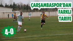 Çarşambaspor'dan Farklı Tarife: 4-0