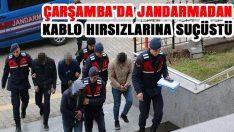 Çarşamba'da Jandarmadan Kablo Hırsızlarına Suçüstü