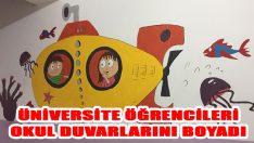 Üniversite Öğrencileri Okul Duvarlarını Boyadı
