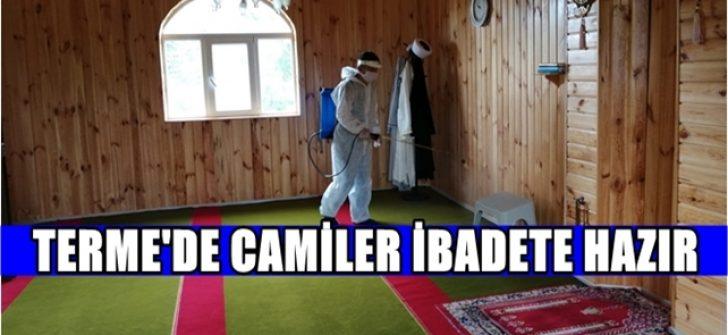 TERME'DE CAMİLER İBADETE HAZIR