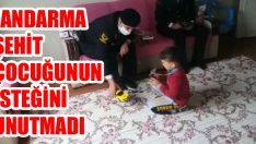 Jandarma Şehit Çocuğunun İsteğini Unutmadı