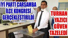 İyi Parti Çarşamba İlçe Kongresi Gerçekleştirildi… Turhan Yazıcı Güven Tazeledi