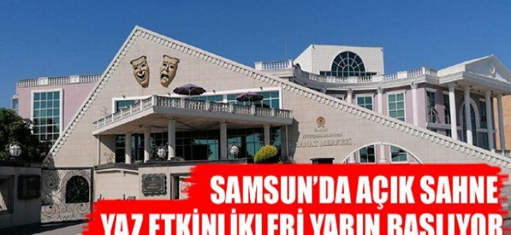 Samsun'da Açık Sahne Yaz Etkinlikleri Yarın Başlıyor