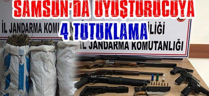 Samsun'da Uyuşturucuya 4 Tutuklama