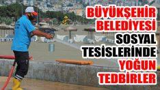 Büyükşehir Belediyesi Sosyal Tesislerinde Yoğun Tedbirler
