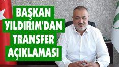Çarşambaspor Kulübü Başkanı Özkan Yıldırım: Transferde İnce Eleyip Sık Dokuyoruz