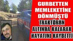 Ayvacık'ta Devrilen Traktörün Sürücüsü Öldü