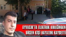 Ayvacık'ta Elektrik Direğinden Düşen Kişi Hayatını Kaybetti