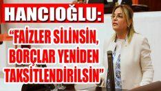 """Hancıoğlu: """"Faizler Silinsin, Borçlar Yeniden Taksitlendirilsin"""""""