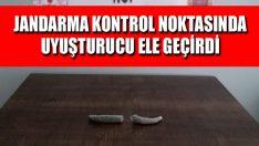 Jandarma Kontrol Noktasında Uyuşturucu Ele Geçirdi