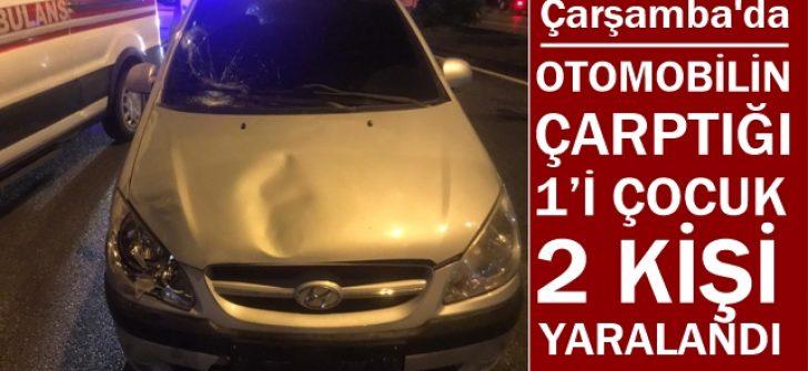 Otomobil Yayalara Çarptı: 1'i Çocuk 2 Kişi Yaralandı