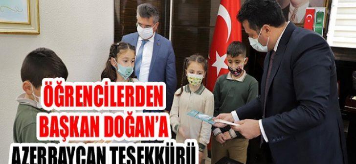 Öğrencilerden Başkan Doğan'a Azerbaycan Teşekkürü