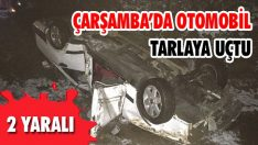 Çarşamba'da Otomobil Tarlaya Uçtu: 2 Yaralı