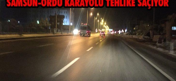 Samsun-Ordu Karayolu Tehlike Saçıyor