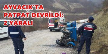 Ayvacık'ta Patpat Devrildi: 2 Yaralı
