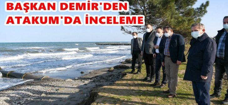 Başkan Demir'den Atakum'da İnceleme