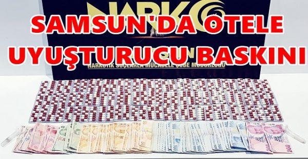 Samsun'da Otele Uyuşturucu Baskını