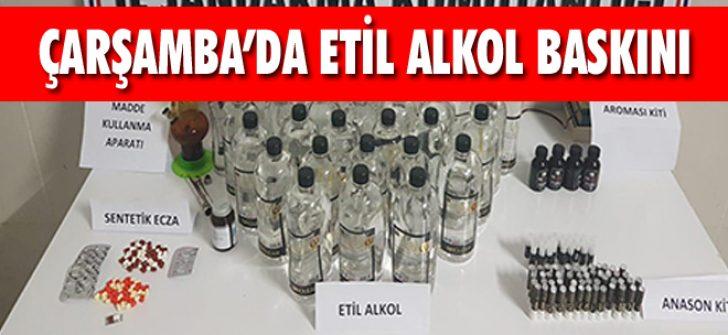 Çarşamba'da Etil Alkol Baskını