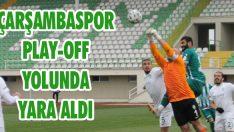 Çarşambaspor Play-Off Yolunda Yara Aldı