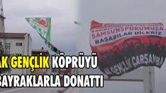 AK Gençlik Köprüyü Bayraklarla Donattı