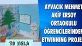 Ayvacık Mehmet Akif Ersoy Ortaokulu Öğrencilerinden eTwinning Projesi