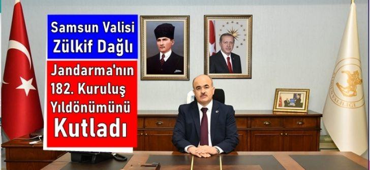 Samsun Valisi Dağlı, Jandarma Teşkilatı'nın 182. Kuruluş Yıldönümünü kutladı