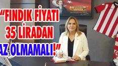 """""""Fındık Fiyatı 35 Liradan Az Olmamalı!"""""""