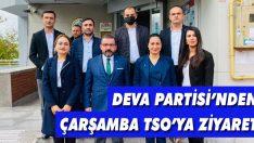 DEVA Partisi'nden Çarşamba TSO'ya Ziyaret